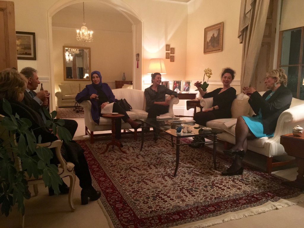 Participants meeting with Şenay Egüz, wife of Turkish Ambassador to Ireland.