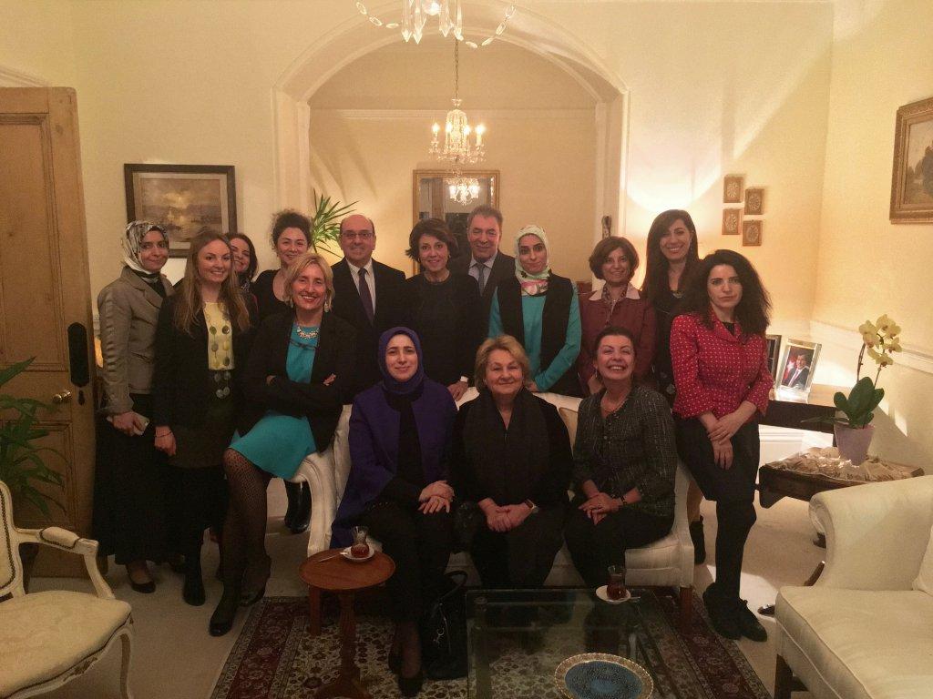 Group photo with His Excellency Turkish Ambassador to Ireland, Necip Egüz and his wife Şenay Egüz.