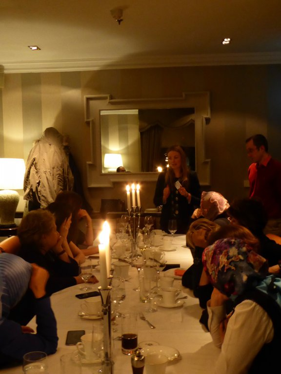DPI Programmes Director Eleanor Johnson speaks with participants at the Shelbourne Hotel in Dublin.