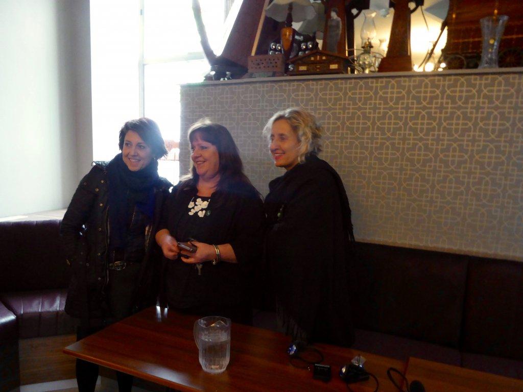 DPI participants Ms Gülseren Onanç and Ms Melda Onur with Ms Breige Brownlee in Belfast.