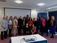 DPI participants with Ms Paula Bradley. Europa Hotel, Belfast.