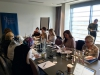 Participants meet with DPI Programmes Director Eleanor Johnson at the Gibson Hotel in Dublin.