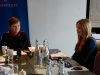 Avila Kilmurray and DPI Programmes Director Eleanor Johnson at a meeting at the Gibson Hotel in Dublin.