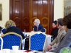 Mr Kevin Kelly Direct of the Conflict Resolution Unit of the Irish Department of Foreign Affairs speaks with participants at the Iveagh House in Dublin.