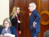 DPI Direct of Programmes Eleanor Johnson speaks with Mr Kevin Kelly, Director of the Conflict Resolution Unit in the Irish Department of Foreign Affairs, at the Iveagh House in Dublin.