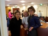 DPI participants: Ms Bejan Matur and Ms Gülseren Onanç with Ms Jane Morrice at the Europa Hotel in Belfast.