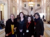 Ms Melda Onur, Ms Nurcan Baysal, Ms Bejan Matur and Ms Gülseren Onanç at the Stormont House in Belfast.