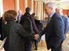 Ms Sevtap Yokuş shakes hands with Sinn Fein MLA.
