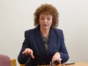 Sinn Fein MLA Carál Ní Chuilín talks about women's role in political movements with DPI participants at Stormont House.