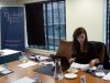 Ms Nurcan Baysal prepares for a meeting at the Europa Hotel in Belfast.