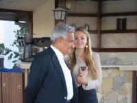 Hüseyin Hatemi and DPI's Programme Manager Eleanor Johnson