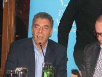 DPI Director Kerim Yildiz iving a speech during dinner hosted by Van governor Aydın Nezih Doğan
