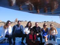 Participants enjoying a boat trip to Akdamar Island