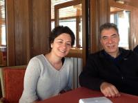 DPI's Esra Elmas and Kerim Yildiz on the boat to Akdamar Island
