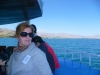 Esra Nurel on the boat to Akdamar Island