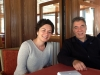 DPI's Esra Elmas and Kerim Yildiz on the boat to Akdamar Island