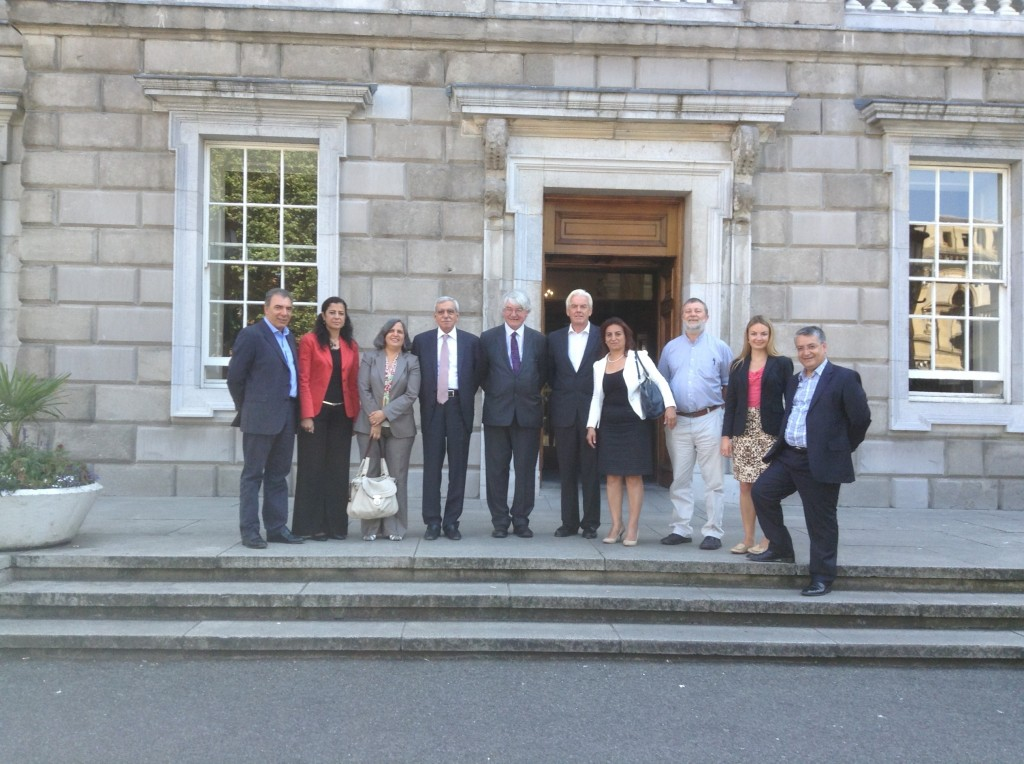 DPI Director Kerim Yildiz, Ayla Akat Ata, Gültan Kışanak, Ahmet Turk, advisor to former Irish Prime Minister, Martin Mansergh, former President of the Law Society of Northern Ireland Norville Connolly, Aysel Tuğluk, Ian White of the Glencree Centre for Peace and Reconciliation, DPI Programme Manager Eleanor Johnson and Nazmi Gür