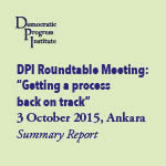 Getting a Process Back on Track: Roundtable Meeting, Ankara, Turkey, 3rd October 2015