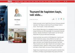 'Tsunami'de hapisten kaçtı, vali oldu…' Posta, May 29, 2018