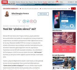 'Yeni bir 'çözüm süreci' mi?' Haber Turk, May 29, 2018